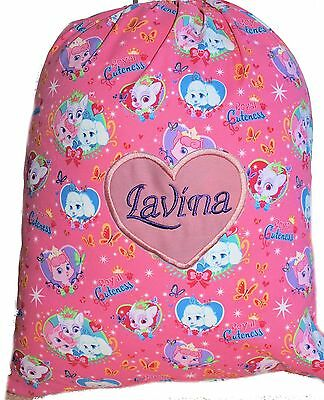 Kids Personalised Drawstring Library Bag - Palace Pets - First name FREE