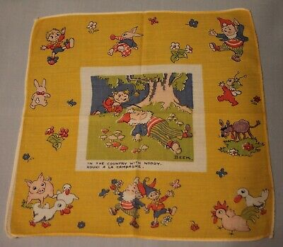 Rare Vintage Noddy & Big Ears Childrens Hanky