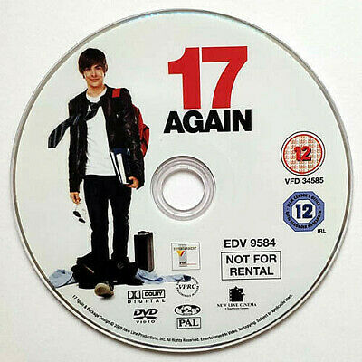17 Again (DVD) Disc Only - Zac Efron - Matthew Perry - Leslie Mann - (2009)