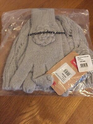Cotton Traders Womens Hat And Glove Set New With Tags