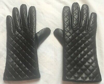 Leather Gloves Genuine Black Winter Driving Warm Womens Ladies,made in Germany