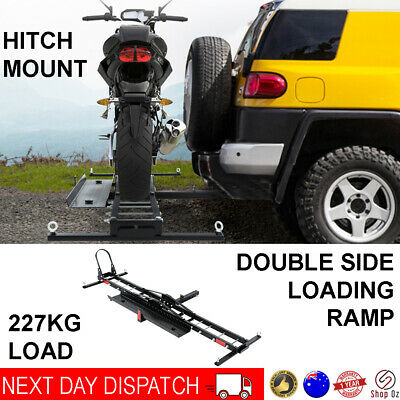 "New Car Rack Motorbike Carrier Ramp Dirt Bike Mount 2"" Hitch Tow Bar Motorcycle"