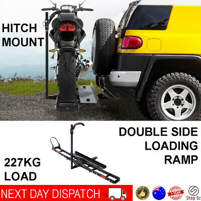 "Car Arm Rack Motorbike Carrier Ramp Dirt Bike Mount 2"" Hitch Tow Bar Motorcycle"