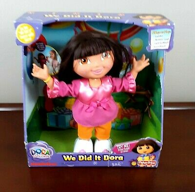 We Did It Dora Doll Singing Dancing Dora the Explorer New in Box 14 in Tall RARE