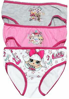 Lol Surprise Girls 3 Pack Underwear Briefs Knickers Set