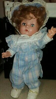 """BND Toddler Doll 13"""" high in period overalls - sooo cute!! -Post free to Aust"""