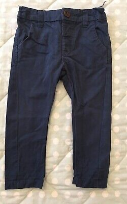 Next Baby Navy Blue Chinos Age 9-12 Months
