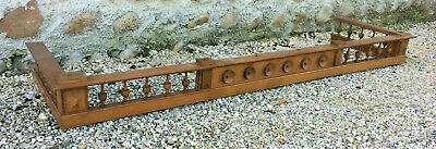 Antique pediment wardrobe Henri 2 walnut blond deco furniture balusters wood
