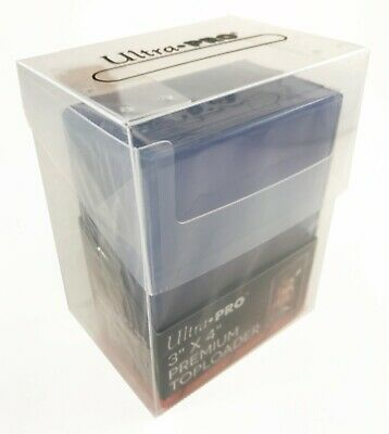 ULTRA PRO TOP LOADER STORAGE BOX 3 x 4 COMBO - BOX, TOPLOADERS & CARD SLEEVES!