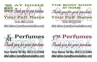 Thank You Cards 50 The body Shop at Home FM perfumes Personalised Printing