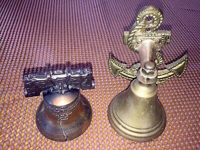 Solid Brass, Ship Bell Anchor, Door Bell Knocker & Vintage Brass, Liberty Bell.