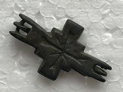 Ancient Bronze Cross ENKOLPION Wearable Pendant Antique Rare
