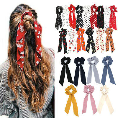 Ropes Elastic Hair Bow Ties Hair Rope Floral Bow Scrunchie Ponytail Scarf