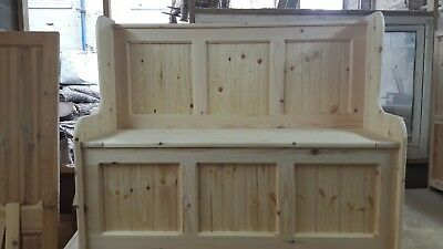 5ft monks bench / church pew / SETTLE / under seat storage