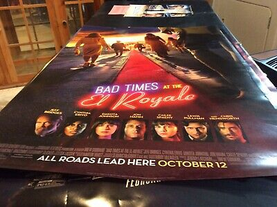BAD TIMES AT THE EL ROYALE - original DS movie poster - 27x40 D/S 2019