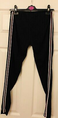 New Look Size Aged 14-15 Years Striped Red And White Black Trousers