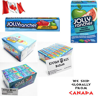 Jolly Rancher Original Hard Candy Chews Lollipops Singles or Case FREE SHIPPING