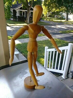"""Good Quality Artist Wooden Model Poseable Jointed Articulated Mannequin 12 1/2"""""""