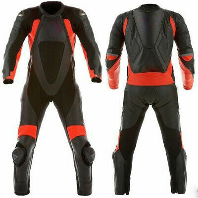 Mens XPRO Motorcycle Racing Leather Suit Motorbike Armor Leather Biker Suit