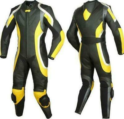 Mens XPRO Motorcycle Leather Suit Motorbike Racing Leather Biker 1PC Armor Suit