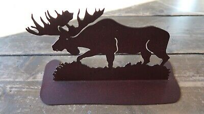 Made in USA Metal Art MOOSE DOORSTOP 9.75""