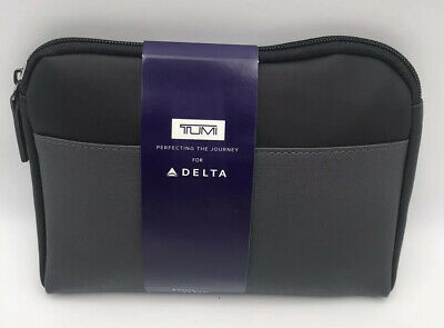 New Delta Airline One Soft Tumi Amenity Kit Black 2019