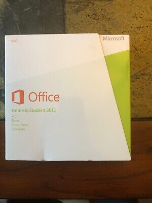MS Microsoft Office 2013 Home and Student DVD Full English Retail Boxed Version