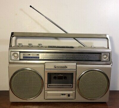 Vintage Panasonic RX 5010 Boombox Am Fm Cassette Player Radio Works