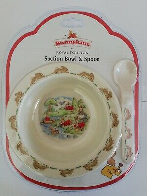 Bunnykins Suction Bowl And Spoon Set