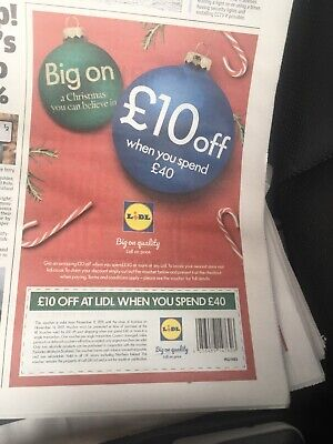 Lidl Shopping Supermarket Discount Voucher Coupon £10 off - FAST FREEPOST