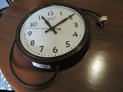 Smiths Sectric Industrial  Electric Wall Clock 1920/30S Railway,School Etc