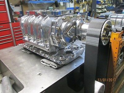 New complete Blower kit show polished 440 dodge 6-71 street gas ready