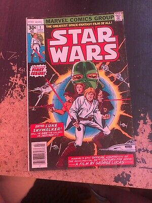Star Wars #1 (1977) Marvel Comic Book 1st Printing First Issue