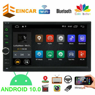Car Stereo MP5 Player SAT GPS Navi Radio Touch Screen Double 2 DIN In Dash US