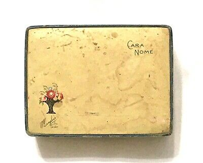 1920s-1930s Cara Nome Powder Langlois Boston Boxed Rachelle Dark 10% Full & Puff