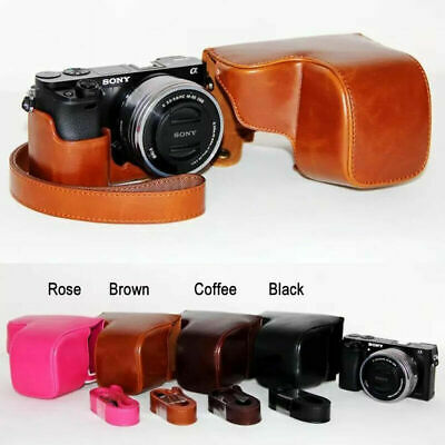 PU Leather Camera case bag strap for Sony alpha a6000 A6300 A6400 A6500