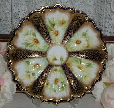 Vintage Crescent China England Heavy Gold Gilt Cabinet Plate
