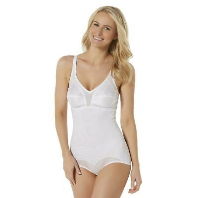 Fundamentals Extra Firm Control Women's Body Briefer white Size 36C NWT