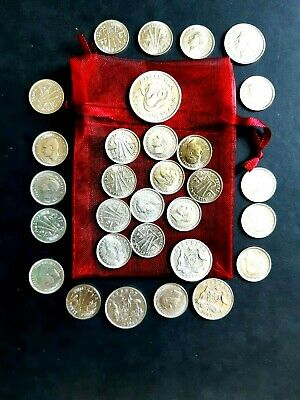 CHRISTMAS Pudding Coins in pouch - Thirty (30) Traditional Silver Aust. coins