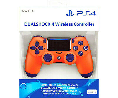 Official Sony Playstation 4 PS4 DualShock 4 Wireless Controller - Sunset Orange