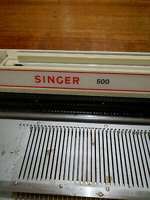 Used Singer 500 electronic Knitting machine w/ accessories power cable & cards
