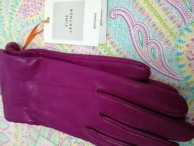 Ladies soft leather gloves, pink, new with tags, from John Lewis. Size S/M