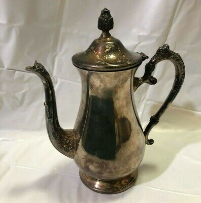 Vintage Newport Silverplate Tea Pot Kettle By Gorham Patina