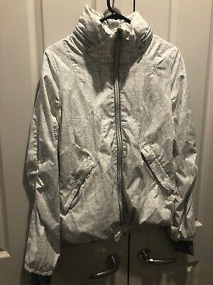 Lululemon White Soft Jacket Hooded Yoga Gym Casual Size 4 Excellent Condition