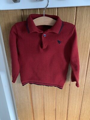 next 12-18 months boys Red Top Polo