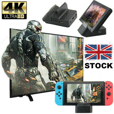 4K Cooler For Nintendo Switch NS HDMI Adapter TV Charger Charging Dock Stand New
