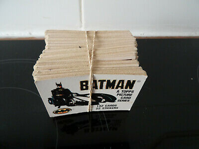 TOPPS PICTURE CARDS - BATMAN THE MOVIE and stickers