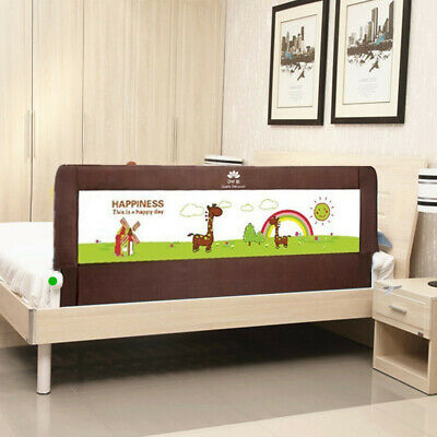 Portable foldable Bed rail Bed Guard Protection Safety Infant Child Brown