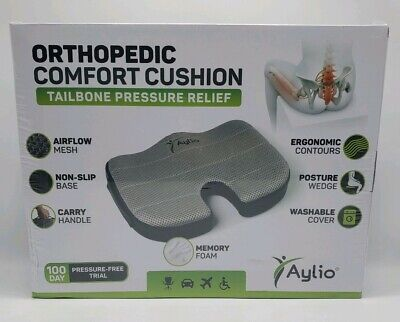 Orthopedic Comfort Foam Seat Cushion by Aylio Coccyx Tailbone Pressure Relief