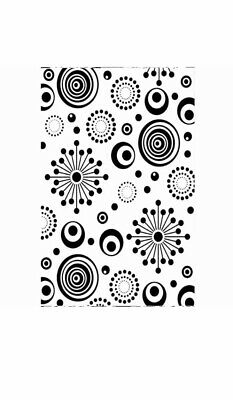 "1219-237 CIRCLES FLORAL DARICE EMBOSSING FOLDER 4.25/"" X 5.75/"" BACKGROUND"